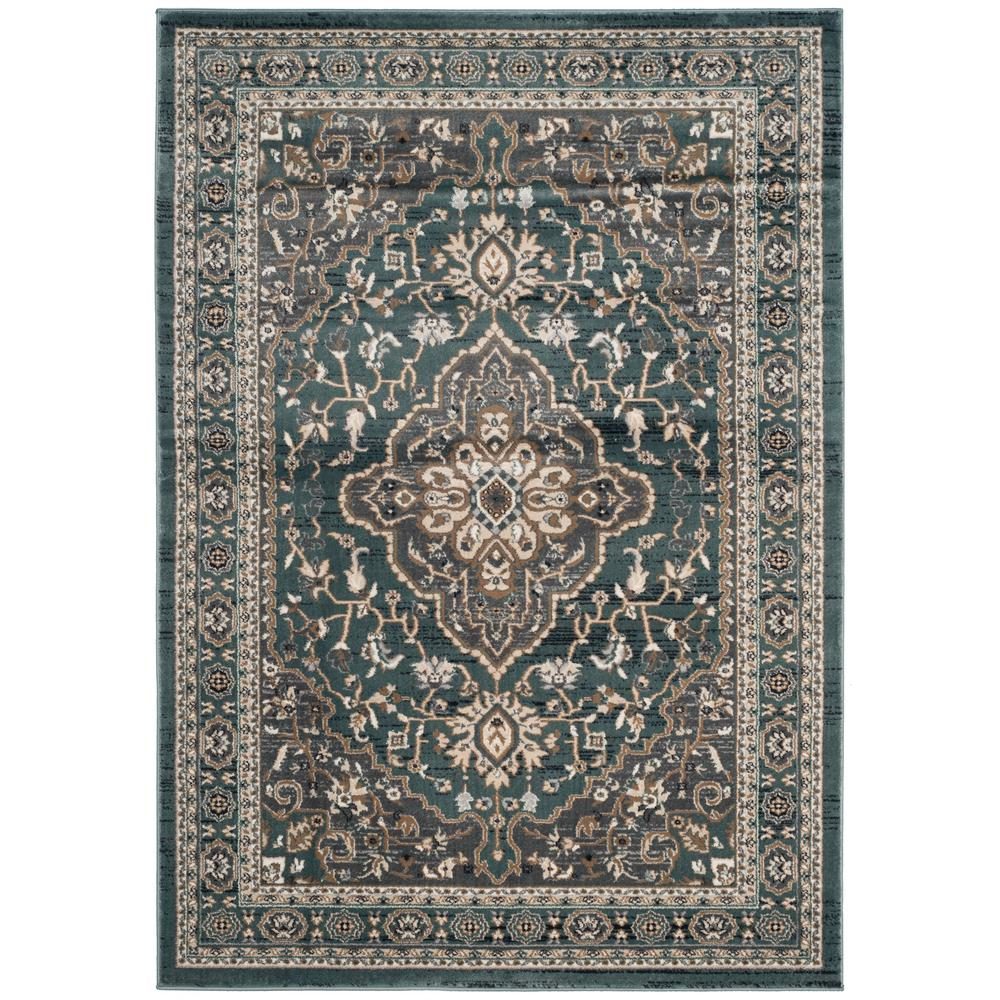 safavieh lyndhurst teal gray 5 ft 3 in x 7 ft 6 in area rug lnh338a 5 the home depot. Black Bedroom Furniture Sets. Home Design Ideas