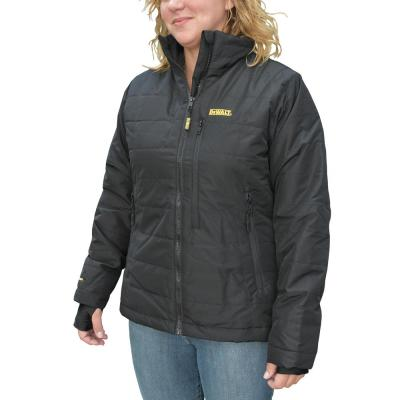 Women's Large 20-Volt MAX XR Lithium-Ion Black Quilted Jacket Kit with 2.0 Ah Battery and Charger