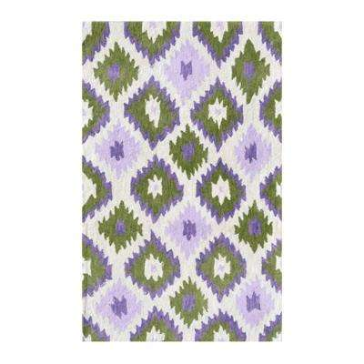 Ikati Lavender 4 ft. 7 in. x 7 ft. 7 in. Indoor Area Rug