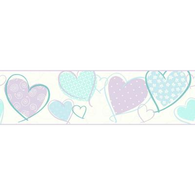 Growing Up Kids Heart Removable Wallpaper Border