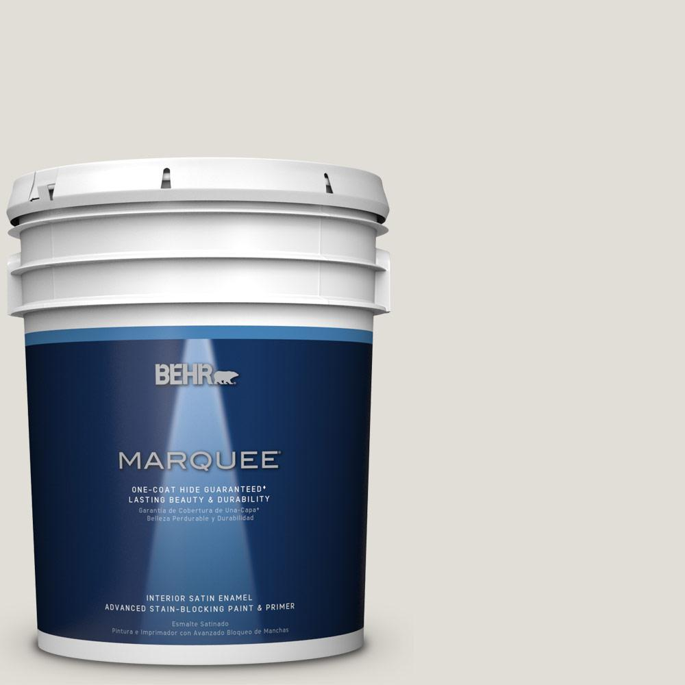 5 gal. #PPU24-15 Mission White Satin Enamel Interior Paint