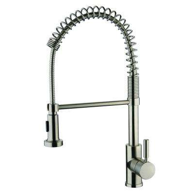 Foreman Single-Handle Pull-Out Sprayer Kitchen Faucet in Brushed Nickel