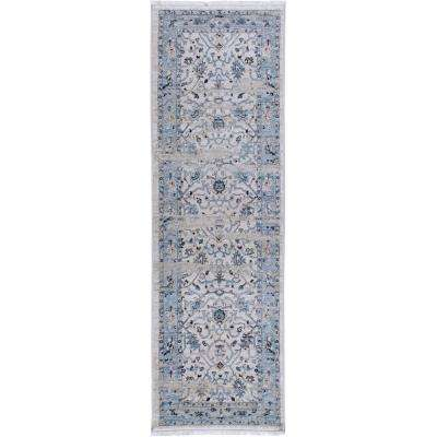 Ridgefield Ivory/Blue 2 ft. 2 in. x 7 ft. 2 in. Indoor Runner