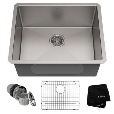 Standart PRO 23in. 16 Gauge Undermount Single Bowl Stainless Steel Kitchen Sink