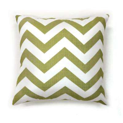 Zoe 18 in. Contemporary Throw Pillow in Green (Pack of 2)