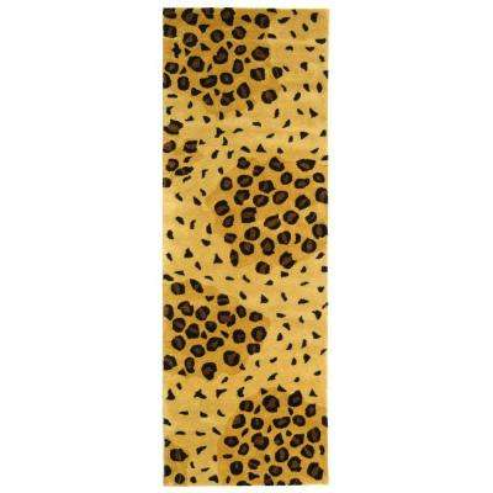 Soho Gold/Black 3 ft. x 8 ft. Runner Rug