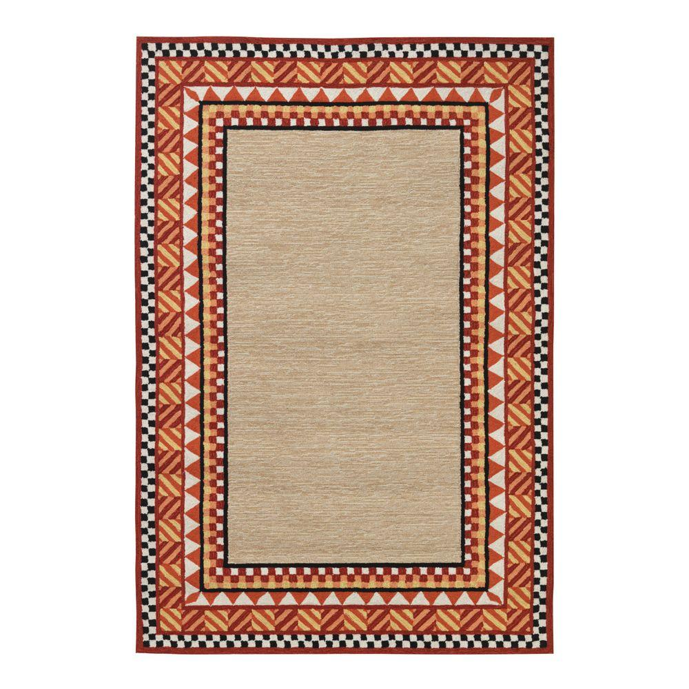 Home Decorators Collection Whimsy Orange 7 ft. 6 in. x 9 ft. 6 in. Area Rug