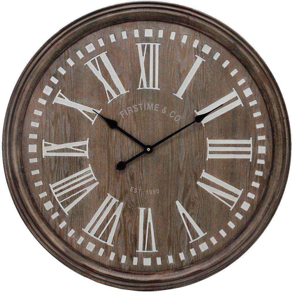 Firstime Co 31 In Carver Farmhouse Wall Clock 31083