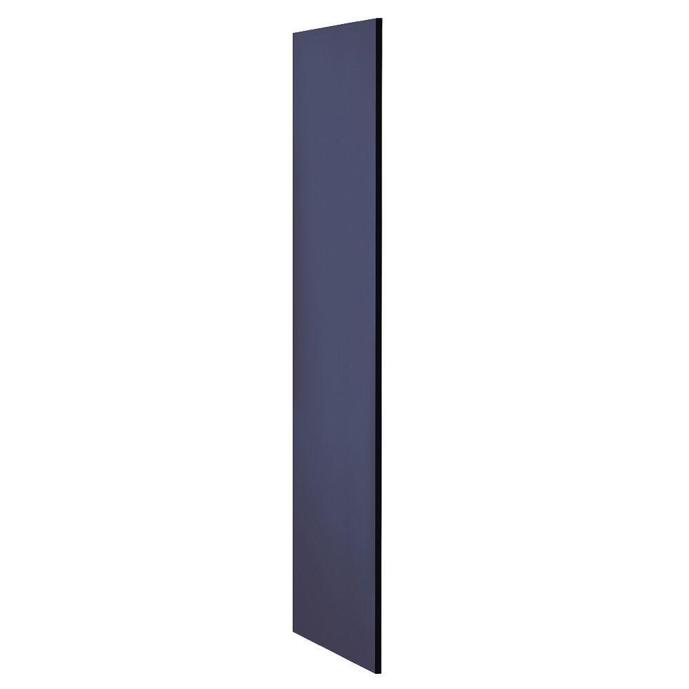 Salsbury Industries Designer Wood Side Panel without Sloping Hood for 21 in. Deep Designer Wood Locker in Blue