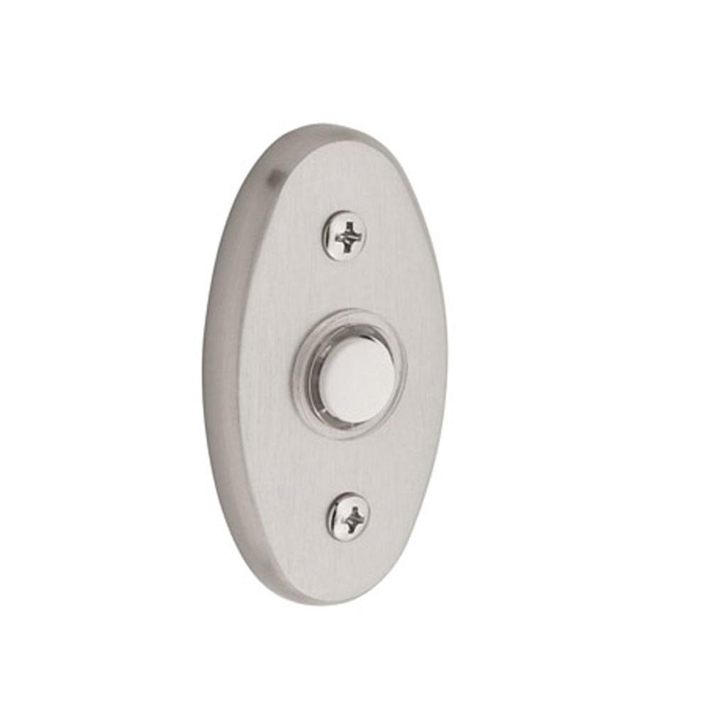 Merveilleux Baldwin 3 In. Oval Wired Lighted Push Button Doorbell In Satin Nickel