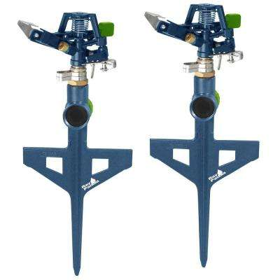 Metal Pulsating Sprinkler on In-Series Step Spike (2-Pack)