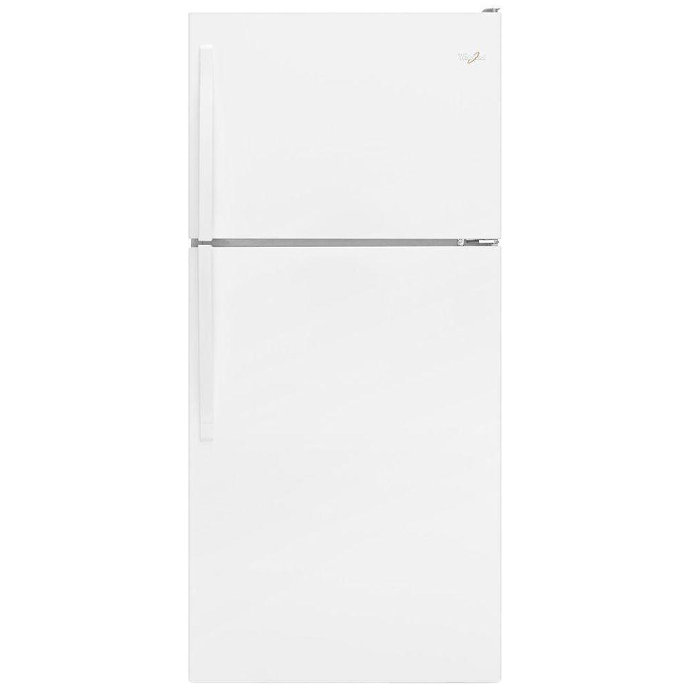 Whirlpool 30 in. W 18.2 cu. ft. Top Freezer Refrigerator in ...