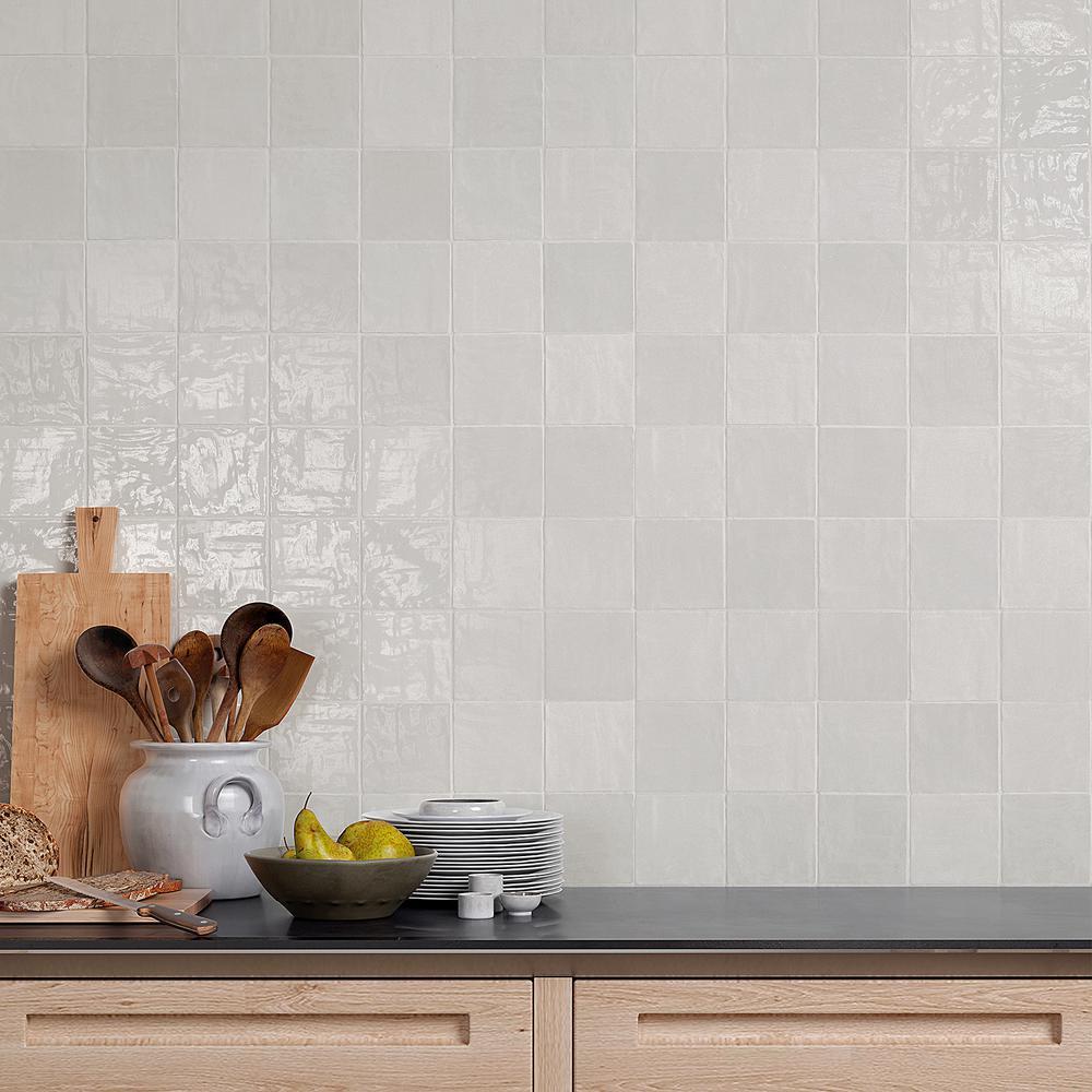 White 4x4 Ceramic Tile Tile The Home Depot