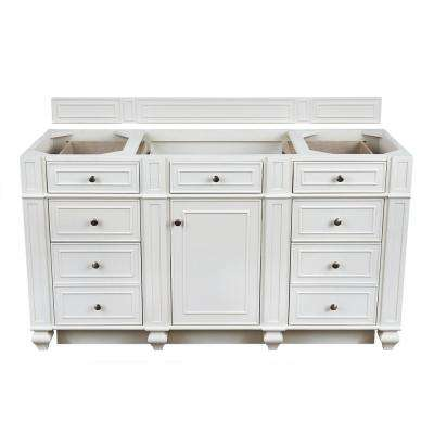 Bristol 60 in. W Bathroom Single Vanity Cabinet Only in Cottage White