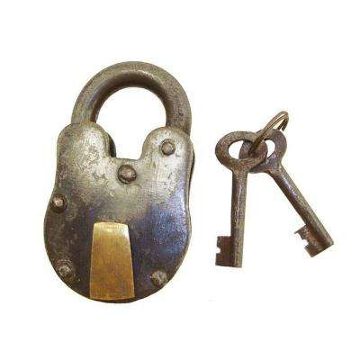 Decorative Metal Bolt Lock and Key