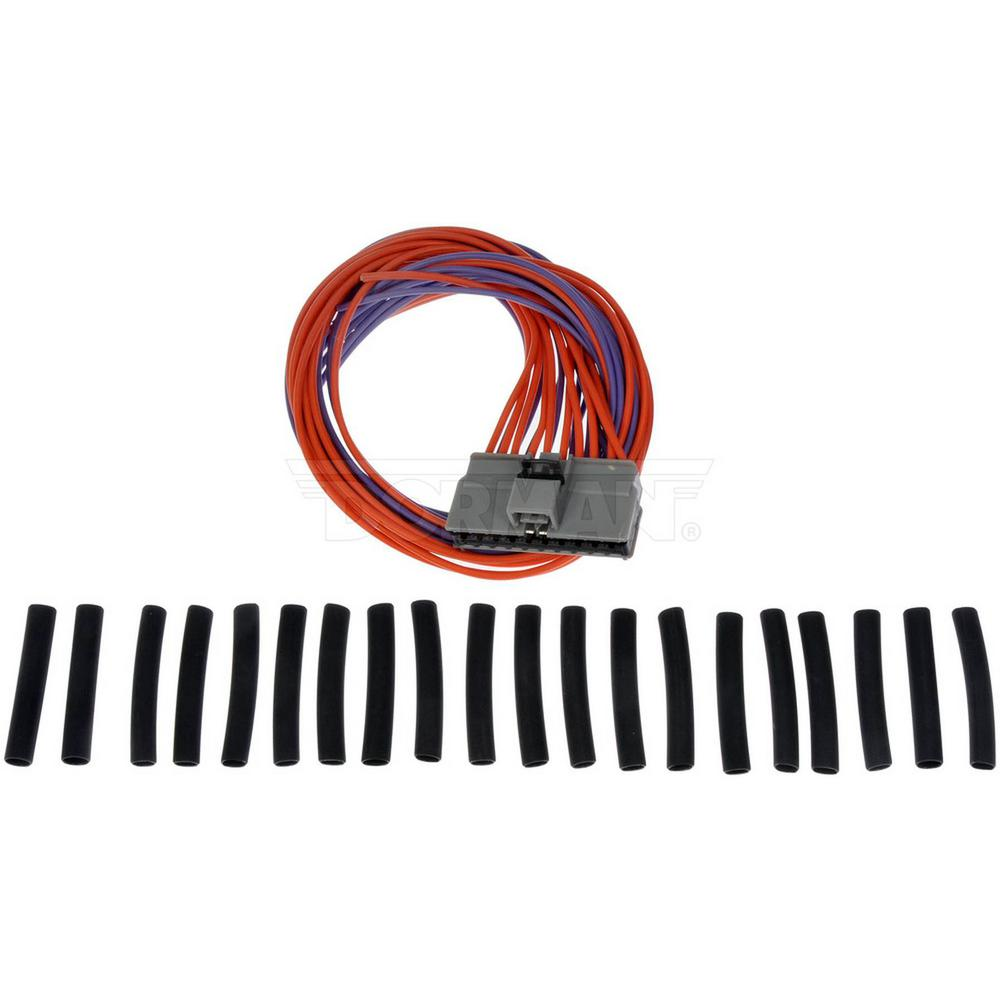 [WQZT_9871]  Twenty Wire Connector With Wire Leads, Splicing Crimps And Heat Shrink  Tubing-645-206 - The Home Depot | 2004 Jeep Wiring Connector Crimp |  | The Home Depot