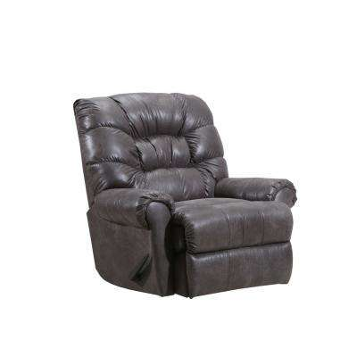 Cortez Leather Look Steel Rocker Recliner