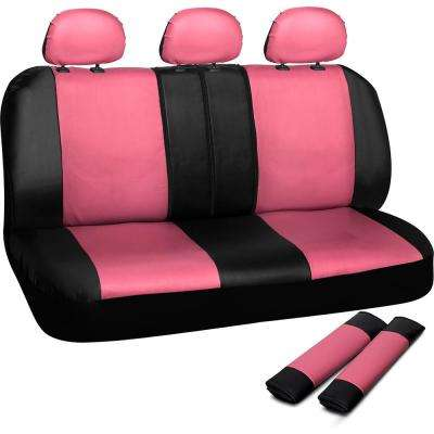 Polyurethane Bench Seat Cover in 21.5 in. L x  23 in. W x 31 in. H  Bench Seat Cover in Pink and Black