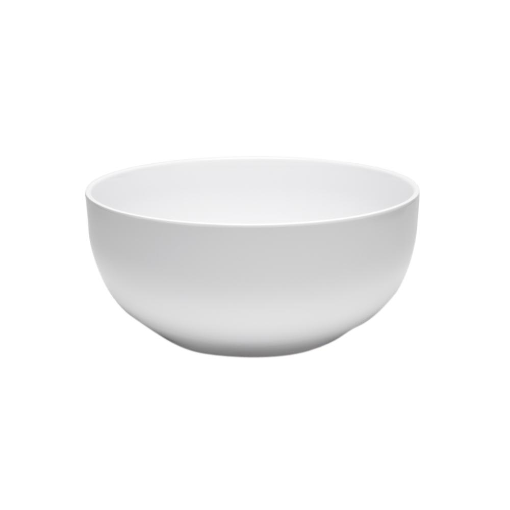 Diamond Round 10 in. Melamine Serving Bowl in White