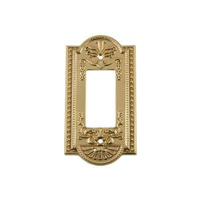 Meadows Switch Plate with Single Rocker in Polished Brass