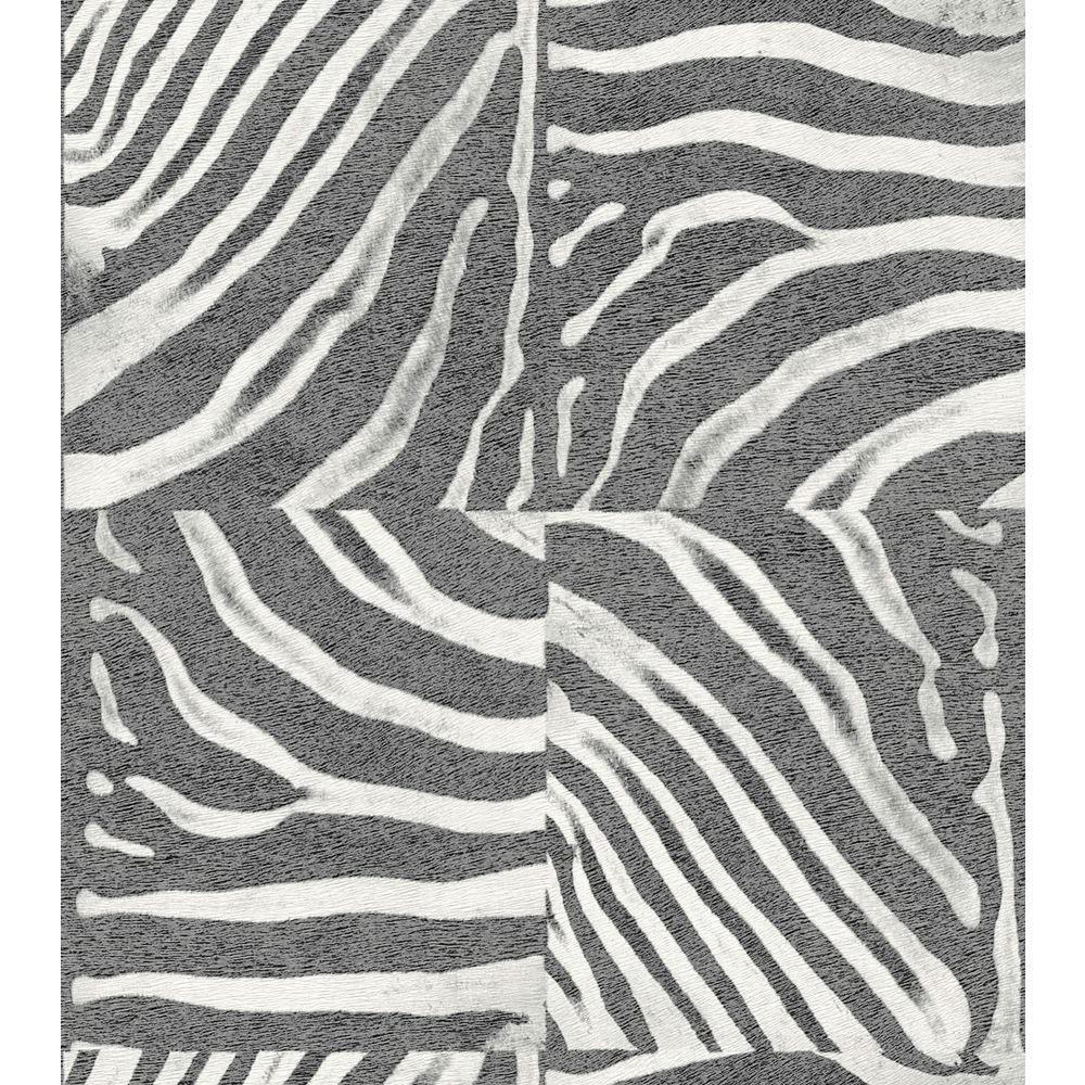 null Washington 56 sq. ft. Zebra Skin Wallpaper