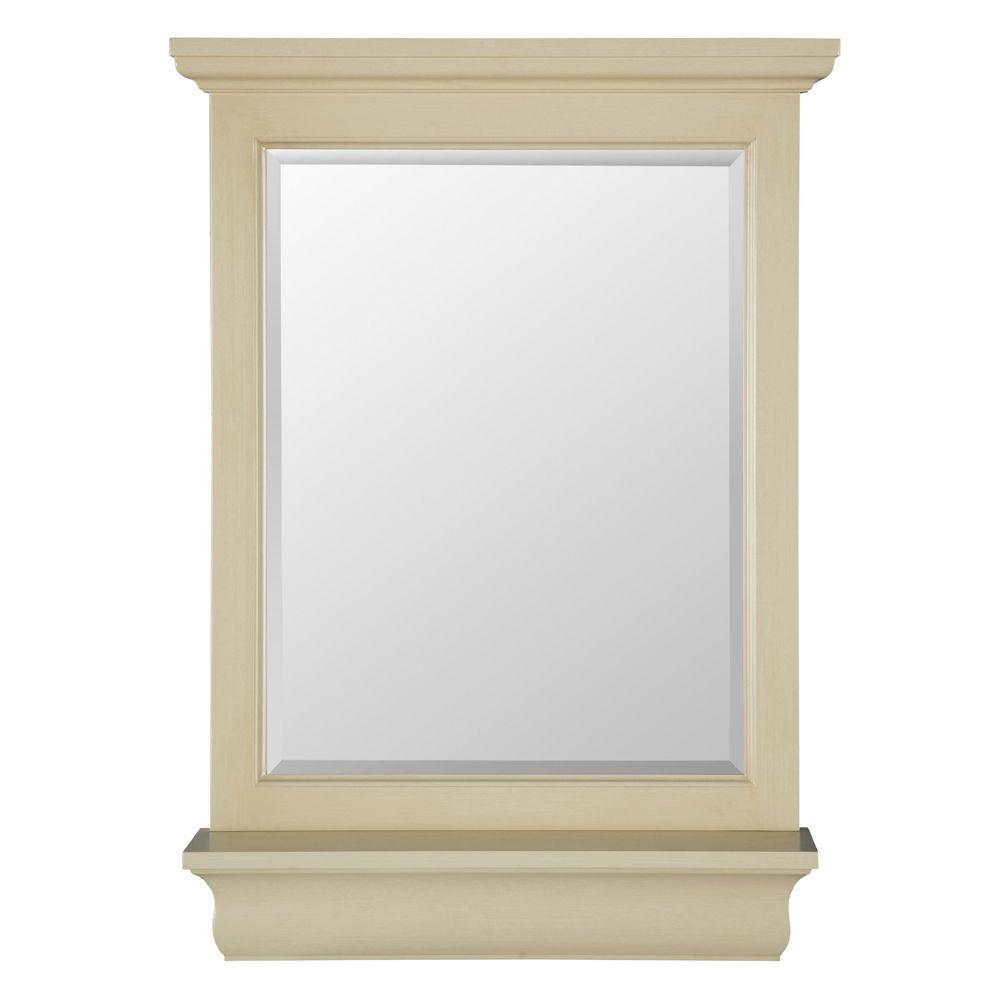 home decorators collection cottage 23 in x 32 in wall mirror in antique white