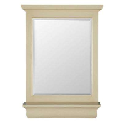 Cottage 23 in. x 32 in. Wall Mirror in Antique White