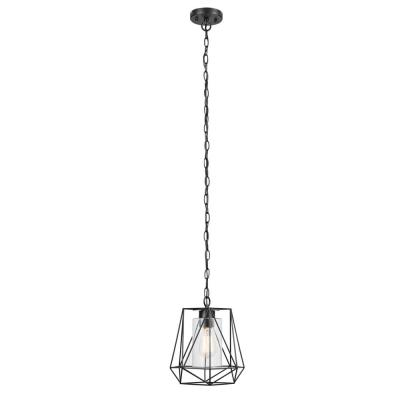 Sansa 1-Light Black Outdoor/Indoor Hanging Pendant