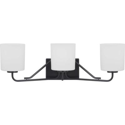 Tobin 3-Light Black Vanity Light