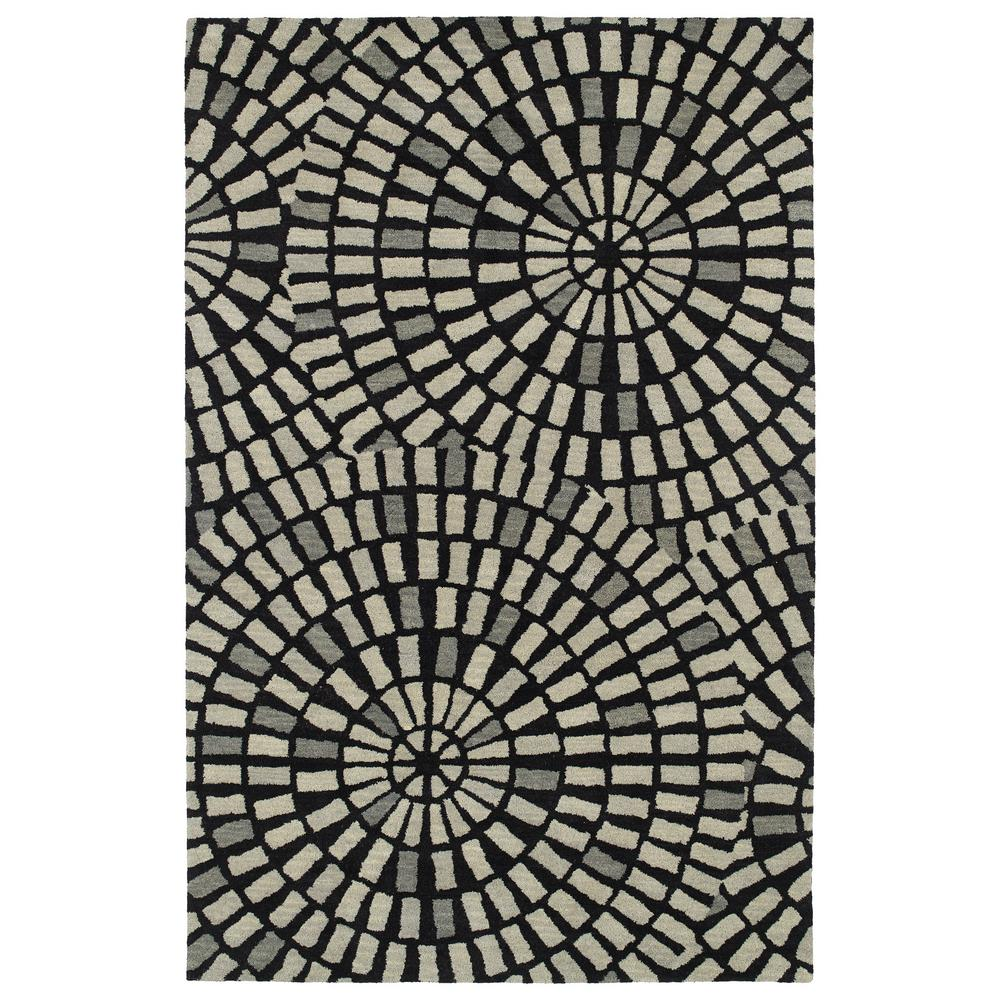Art Tiles Black 5 ft. x 7 ft. 9 in. Area