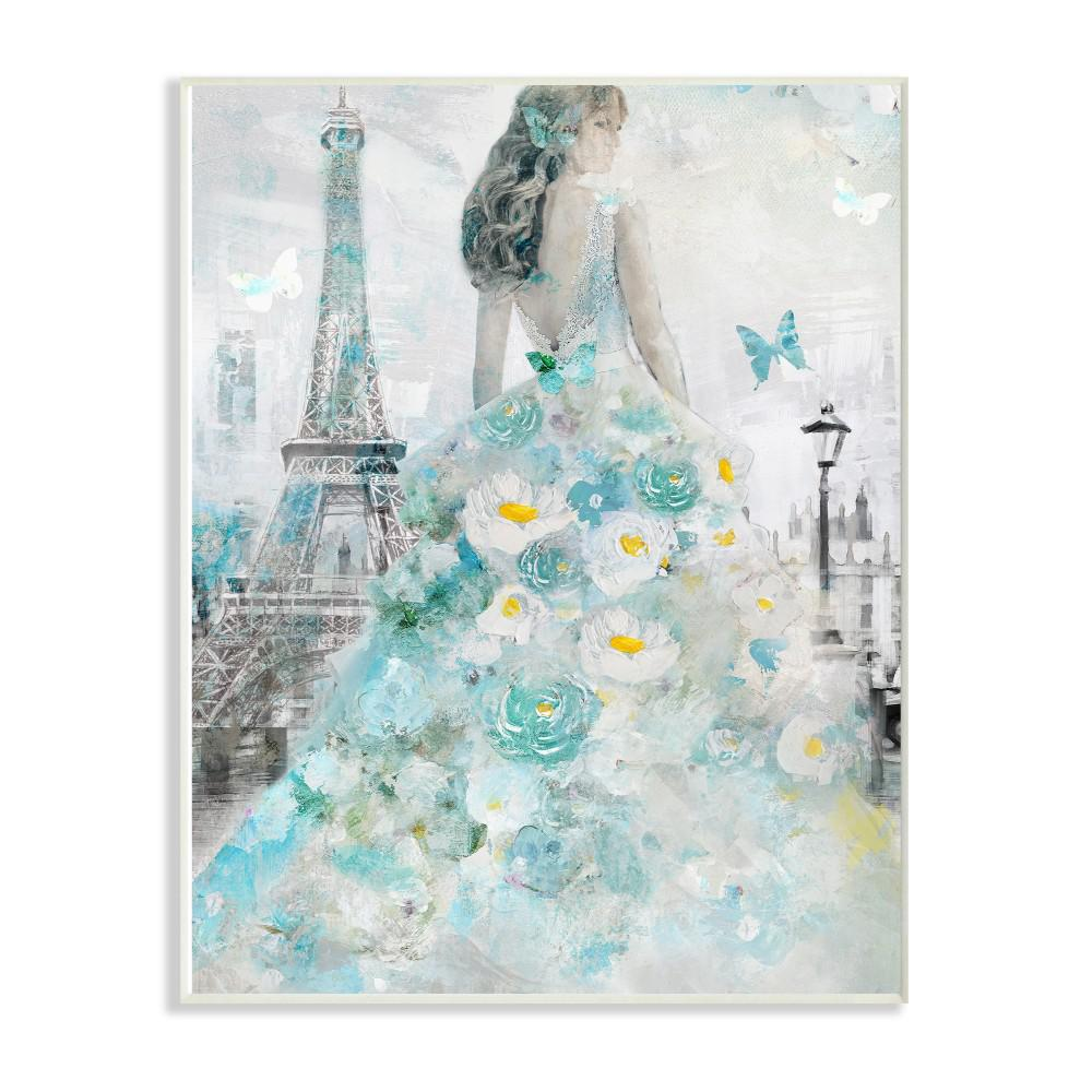 Stupell Industries 10 In X 15 In Parisian Woman With Butterfly