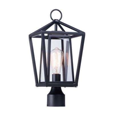 Artisan 8 in. Wide 1-Light Outdoor Black Post Light