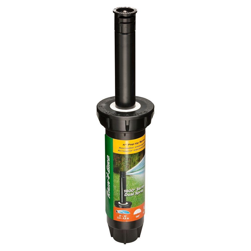 Rain Bird 1804 Dual Spray Half Pattern 4 In Pop Up Head 1804hds 25 The Home Depot