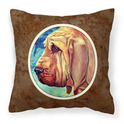 14 in. x 14 in. Multi-Color Lumbar Outdoor Throw Pillow Bloodhound