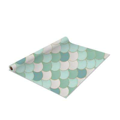 2-Pack Mermaid Self-Adhesive Shelf Liner in Mint