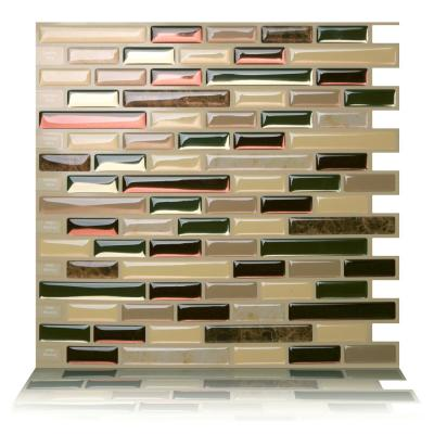 Como Mare 10 in. W x 10 in. H Peel and Stick Self-Adhesive Decorative Mosaic Wall Tile Backsplash (5-Tiles)