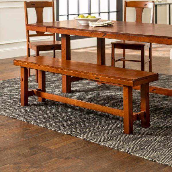 Walker Edison Furniture Company 60 Rustic Farmhouse Wood Dining