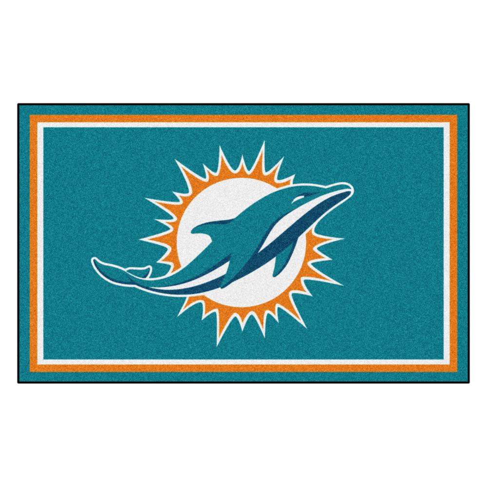 Fanmats Miami Dolphins 4 Ft X 6 Area Rug