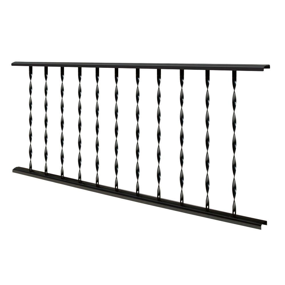 Village Ironsmith Traditional 4 ft. X 32 in. Black Steel Rail Panel