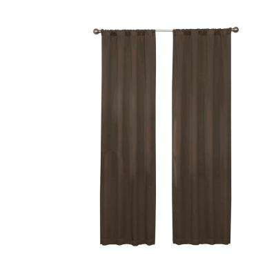 Darrell Blackout Window Curtain Panel in Chocolate - 37 in. W x 95 in. L