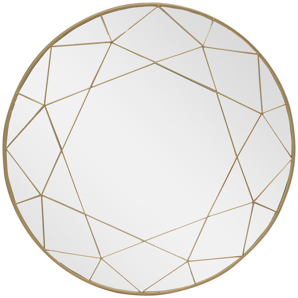 Home Decorators Collection Medium Round Gold Modern Accent Mirror (30 in. Diameter) was $149.0 now $71.5 (52.0% off)