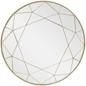 Deals on Home Decorators Collection Medium Round Gold Modern Mirror 30-in