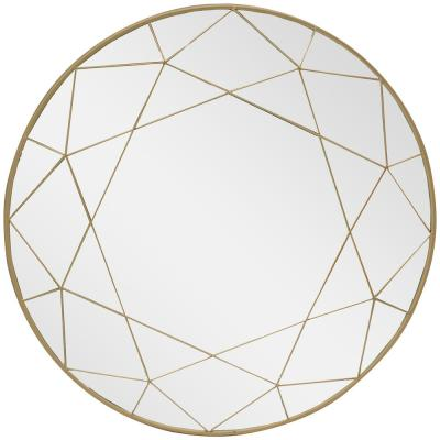 Medium Round Gold Modern Mirror (30 in. Diameter)