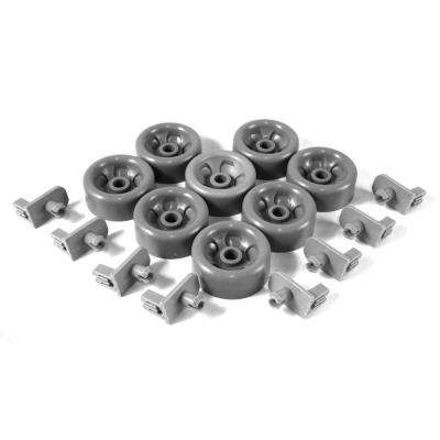 Dishwasher Dish Rack Roller Kit, 8 Pack (OEM Part Number WD35X21041)