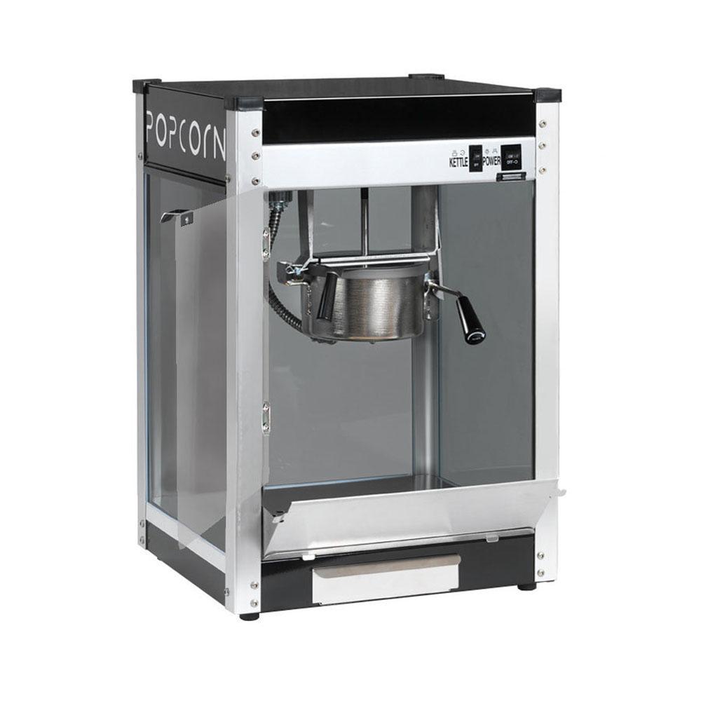 Contempo Pop 4 oz. Black Stainless Steel Countertop Popcorn Machine