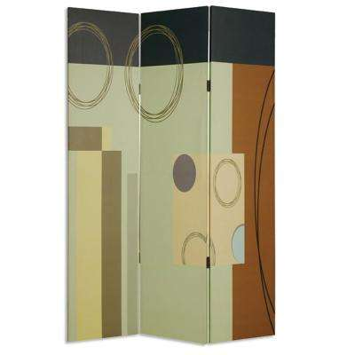 HAILY 6 ft. Multi-color 3-Panel Room Divider
