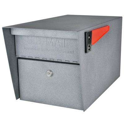 Mail Manager Locking Post-Mount Mailbox with High Security Patented Lock, Granite