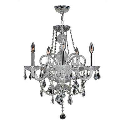 Provence Collection 5-Light Chrome Crystal Chandelier