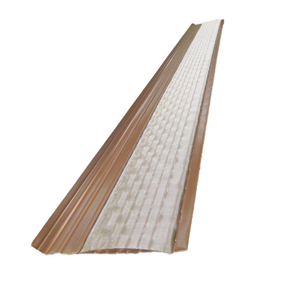 4 ft. x 5 in. Clean Mesh Brown Aluminum Gutter Guard