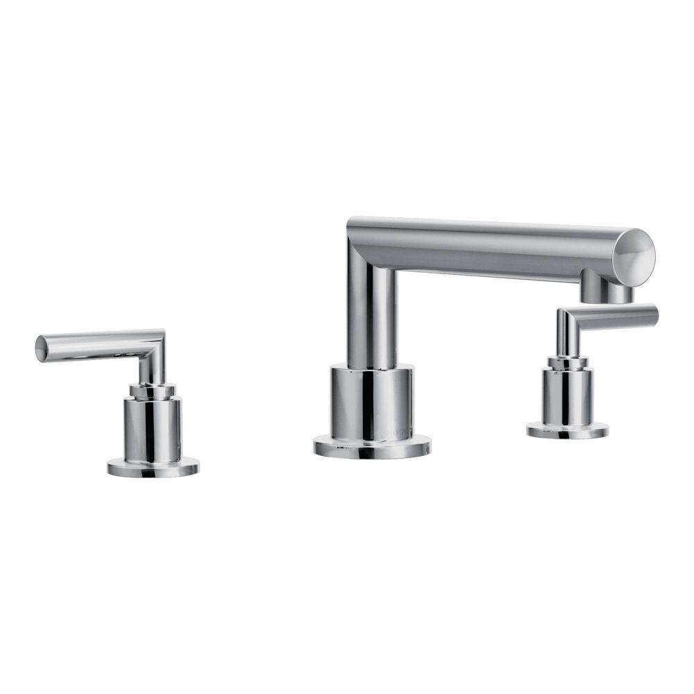 MOEN Arris 2-Handle Deck-Mount High-Arc Roman Tub Faucet Trim Kit in ...
